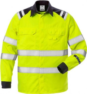 Fristads High Vis Shirt CL 3 7050 ATS (Hi Vis Yellow/Navy)
